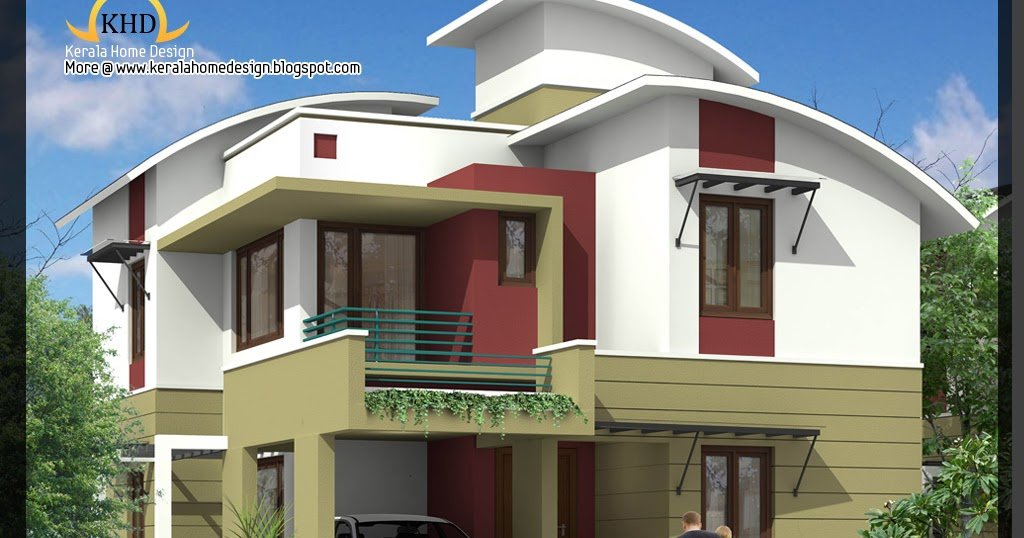 Elevation Plan Ymca : Sq ft bedroom contemporary villa elevation and