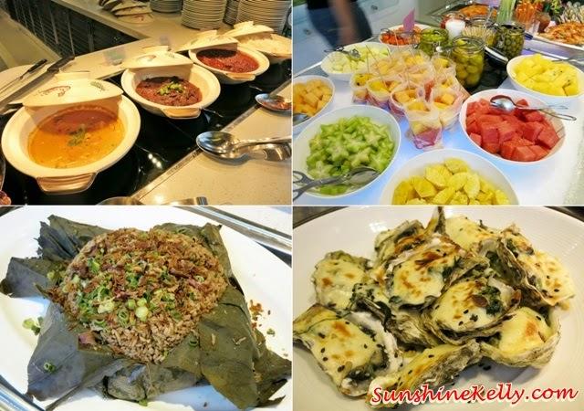 Rendang Ayam, Assorted Fruits,  Fragrant Lotus Leaf Rice, Cheese Baked Oysters, Ramadan Buffet, Chef's A List Malaysian Feast, Nook, Aloft Kuala Lumpur, malay dishes, malay food, malay traditional cuisine,