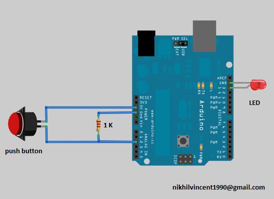 Geekgoing spot interfacing push button with arduino