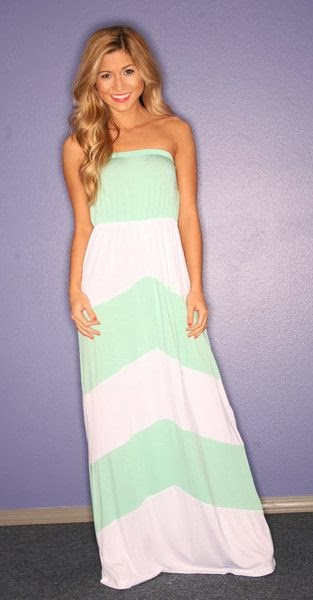 Sun and Sand Maxi in Mint