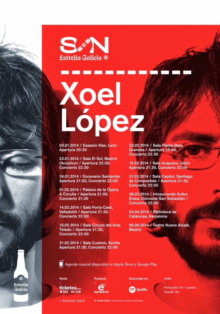 Xoel López en BARCELONA, 4 Abril.