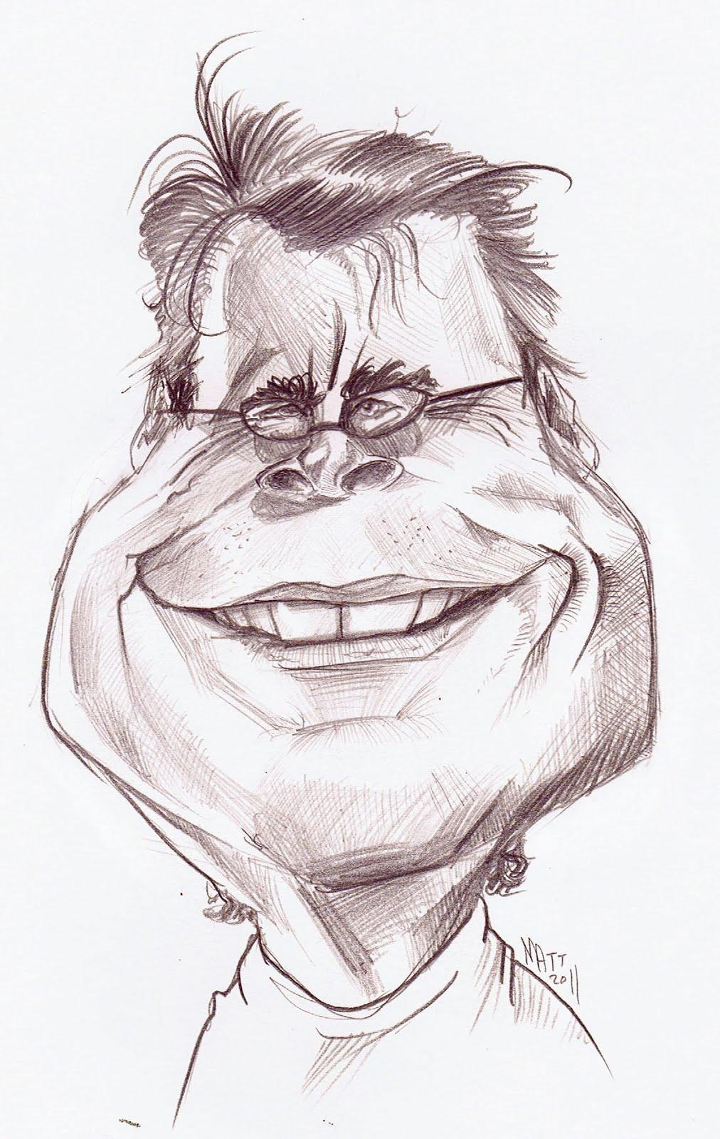 Matt Ryder Caricature Stephen King Sketch