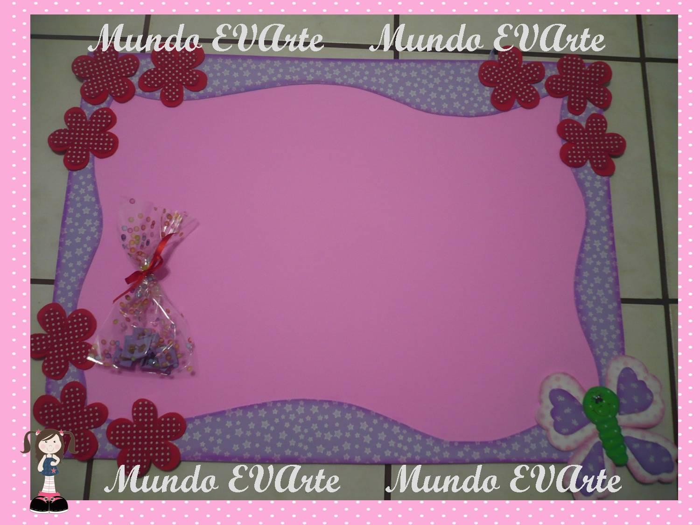 Mundo evarte quadro mural para fotos flores e borboleta for Mural de isopor e eva