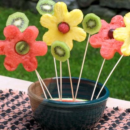 sasaki time snacks on a stick fruit flower bouquet. Black Bedroom Furniture Sets. Home Design Ideas