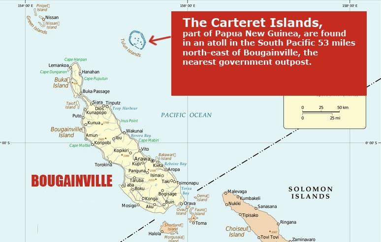 Carteret Islands Map