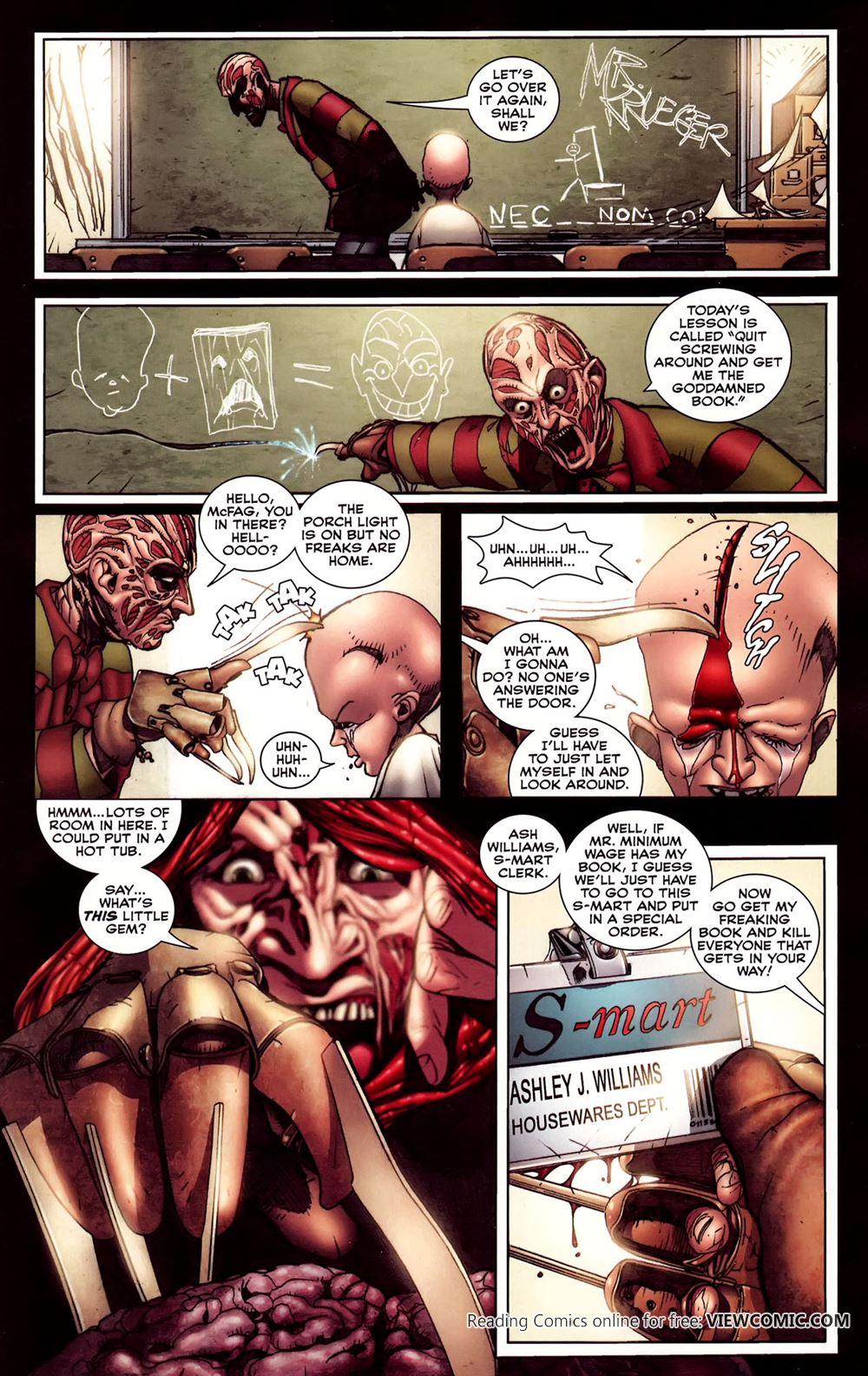 Комиксы порно с фредди крюгером 184