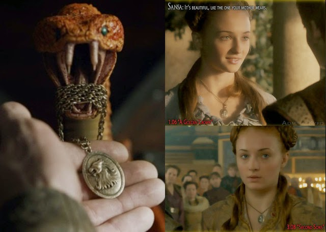 HBO Game of Thrones s05e02: Cerseis necklace