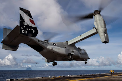 MV-22 OSPREY LAUNCHES FROM USS MAKIN ISLAND