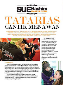 Artikel SUE HASHIM di majalah DARA dan NUR