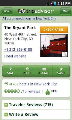 TripAdvisor android app