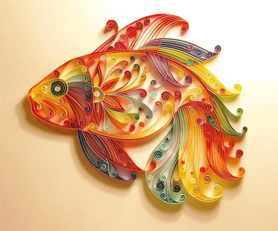 I Was In Fact Fascinated By The Art Of Quilling 1st Time When Saw A Beautiful Craft Work Multi Colored Fish One My Sisters Pinterest Boards
