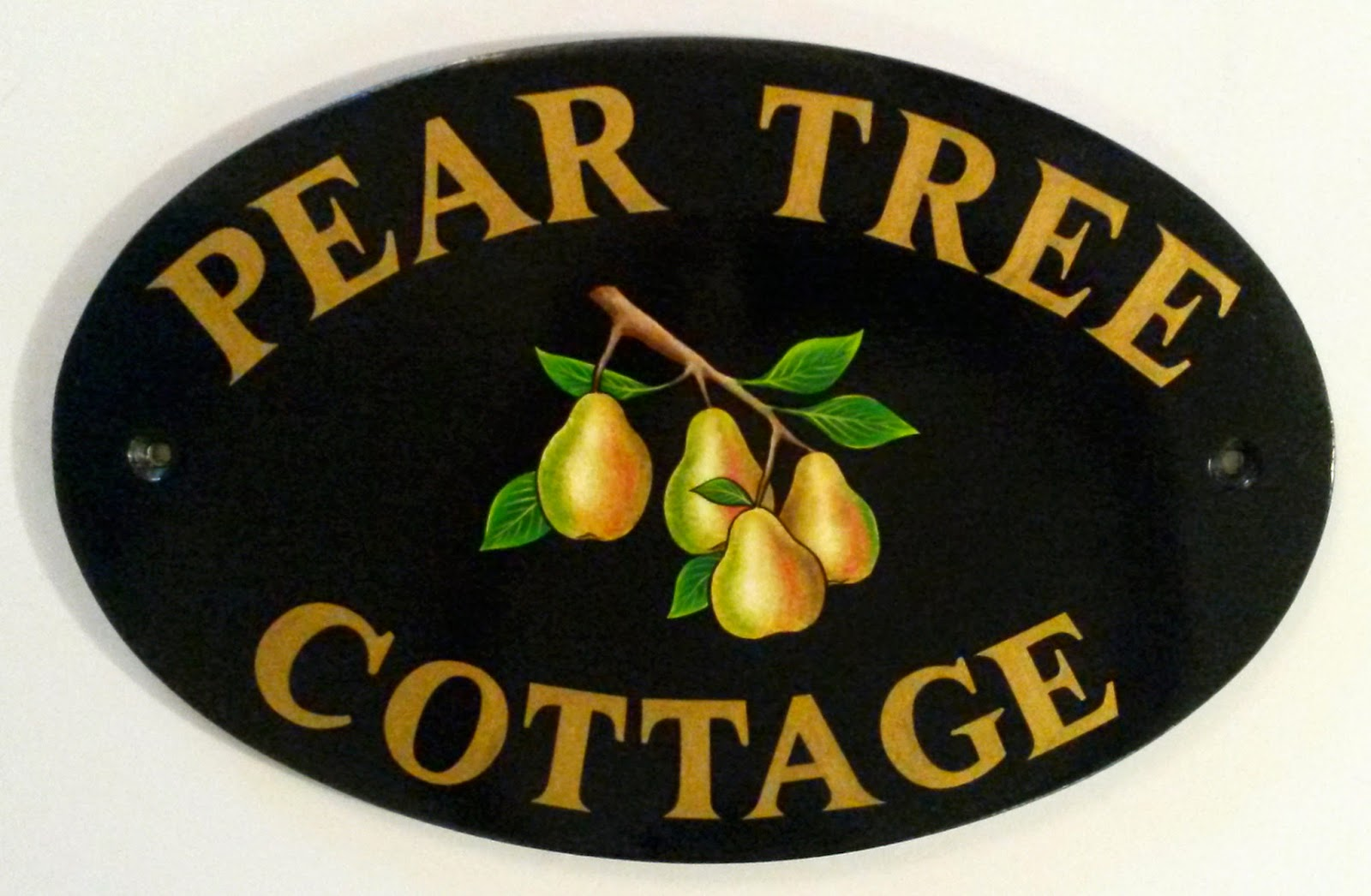 hand painted house signs by ceramic art house signs door. Black Bedroom Furniture Sets. Home Design Ideas