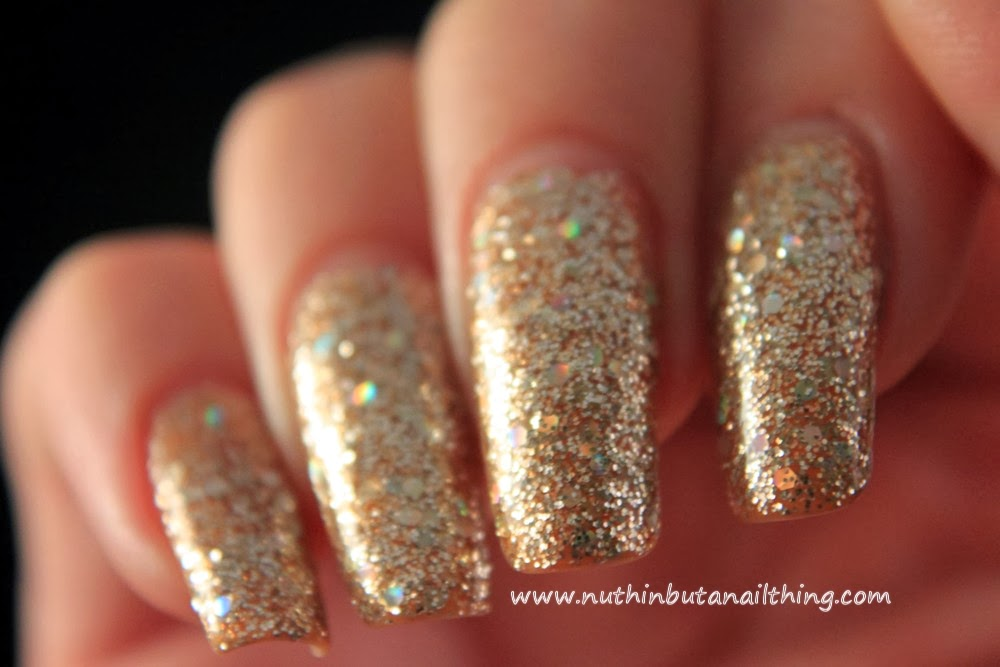 nuthin' but a nail thing: YCC 87 - Gold Glitter