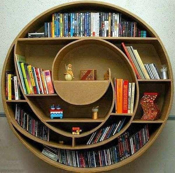 10 ideas de dise o de estantes y libreros muy originales for Diseno de libreros para espacios pequenos