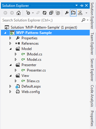 Simple Example For MVP Design Pattern