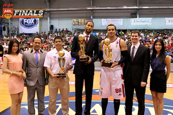 Leo Austria, Chris Charles, and Asi Taulava all received distinctions at the end of the 2013 ABL elimination round.
