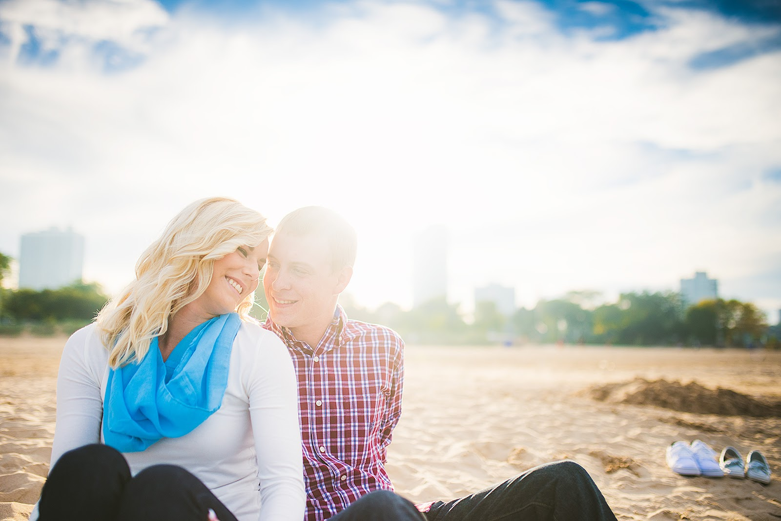 Chicago North Avenue Beach Engagement Photo
