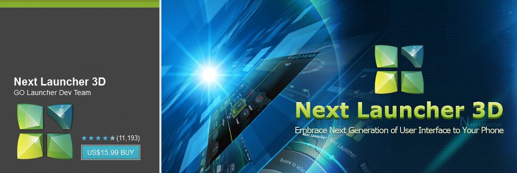 Download Next Launcher 3D v1.35 APK Full Free Version