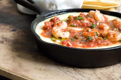 shrimp queso flameado ranchera salsa