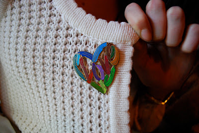 Broche - heart shaped - colorful design