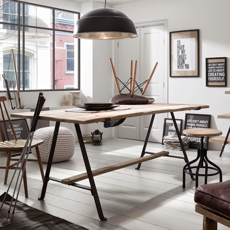 Mesas de comedor mesa de comedor con patas metalicas - Mesas comedor industrial ...