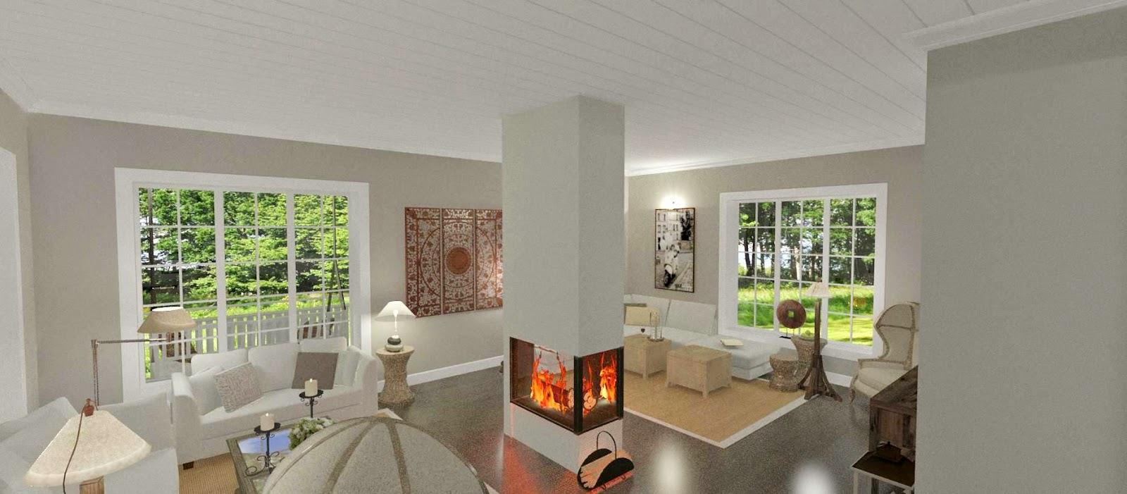 Den Vita Drömgården: New England inspirerad villa med gästhus