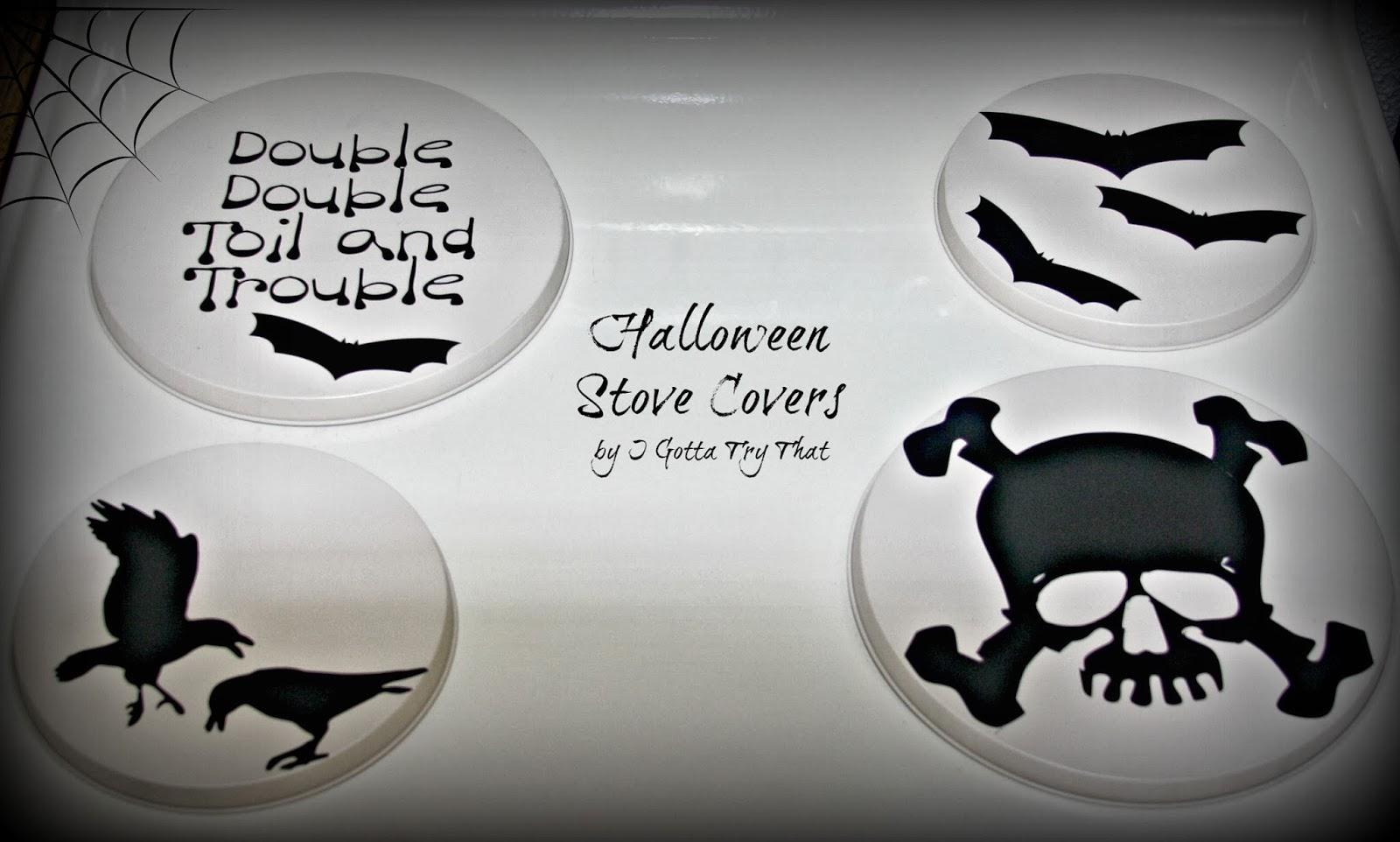 Halloween Stove Burner Covers I Gotta Try That