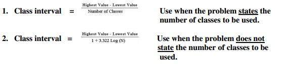 class interval formula statistics