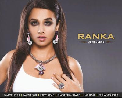 vidya balan spicy shoot for ranka jewellers print ads