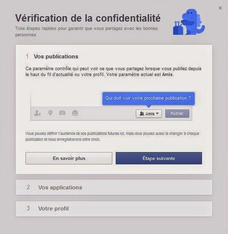 """""""Vérification de la confidentialité"""" sur les publications Facebook"""