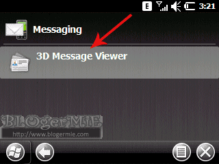 Layout menu SMS aspen dengan Flash