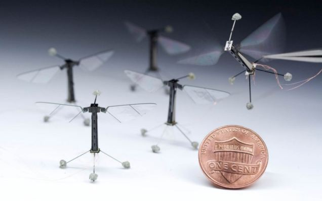 The tiny 80 milligram device has a pair of buzzing fly-like wings that flap 120 times a second