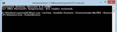 offline enable install .net framework on windows command line