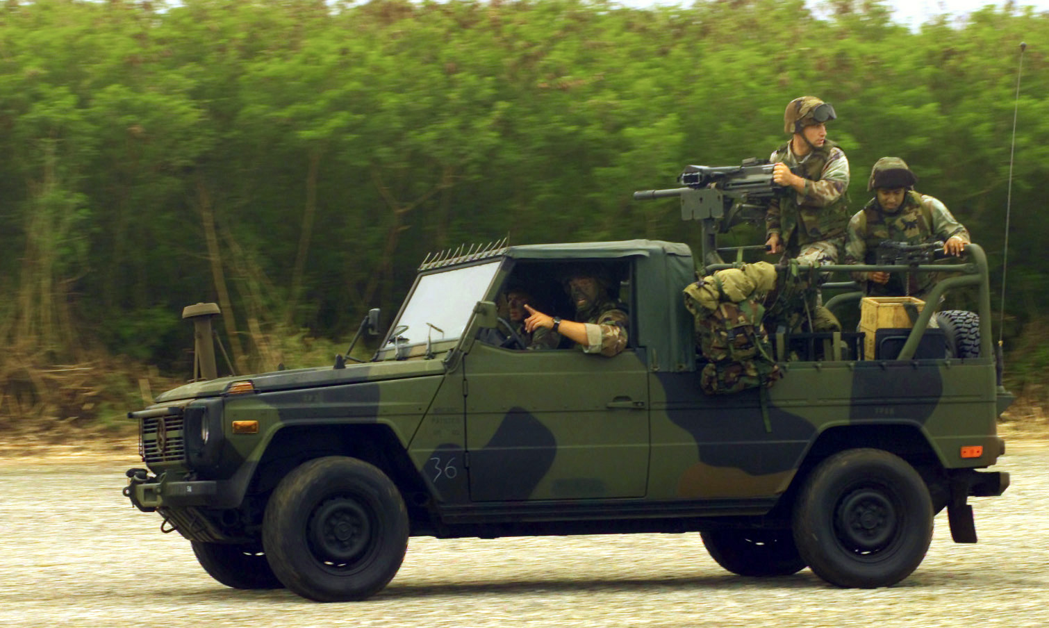 The USMC Interim Fast Attack Vehicle IFAV is a modified version of