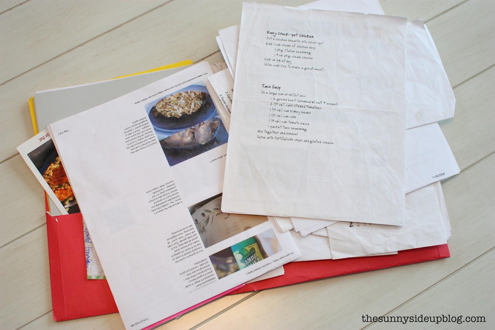 Organization of resume folder