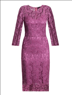 Dolce & Gabbana 3/4 sleeve lace dress