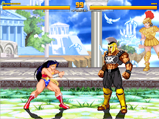 Superheroes 2000 Mugen v4 WonderWoman vs Ares