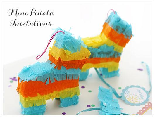 Mini Pinata Invitations
