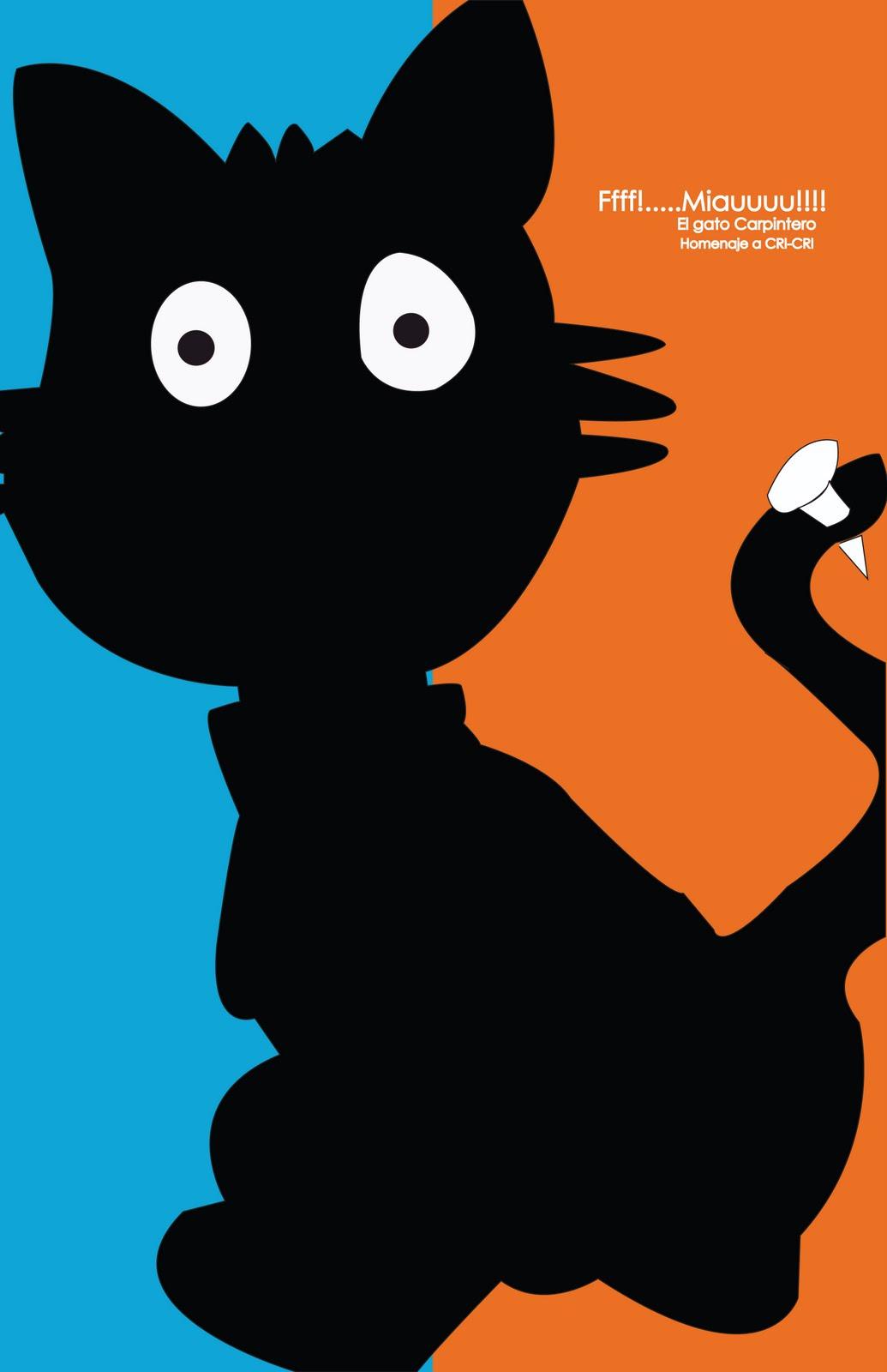 Dise o y comunicaci n 2 parcial cartel homenaje a cri cri for Gato de carpintero