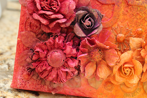 BoBunny Mixed Media Canvas by Juliana Michaels detail