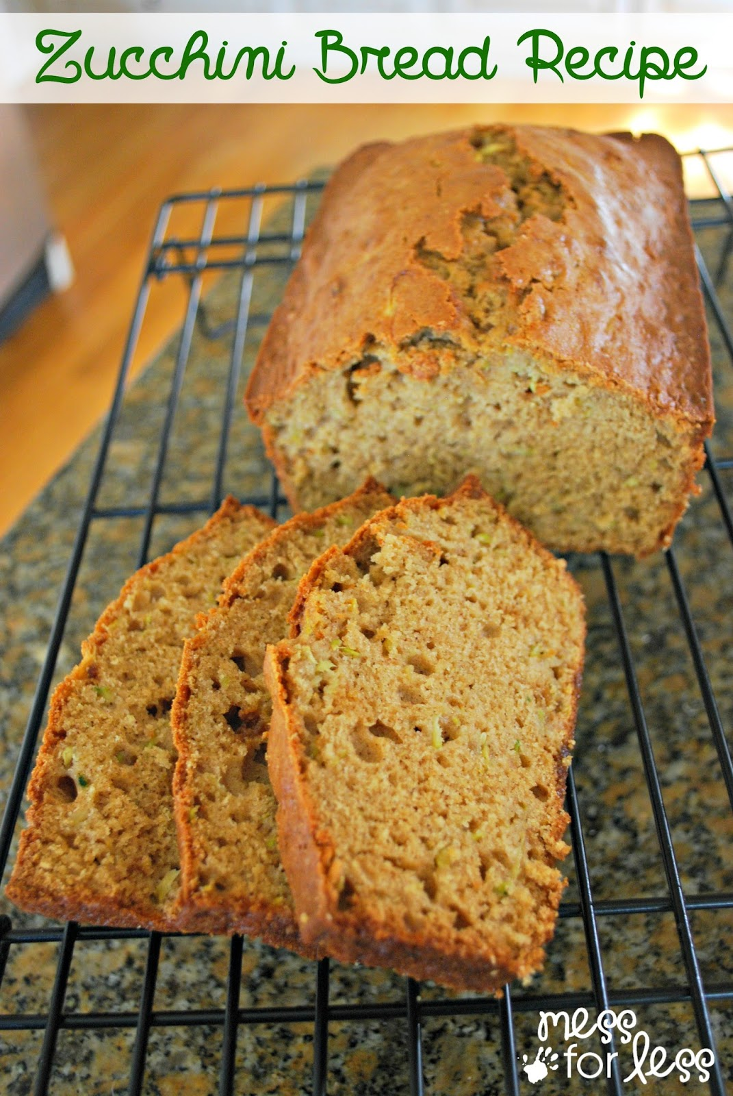 Zucchini Bread Recipe - I made this recipe with my veggie avoiding kids who then proceeded to gobble it up. So good warm and slathered with butter!