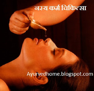 Nasya Panchkarma Karma  नस्य कर्मा