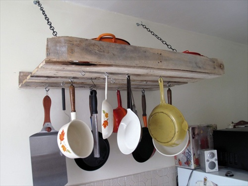 Wood Pallet Pot Rack