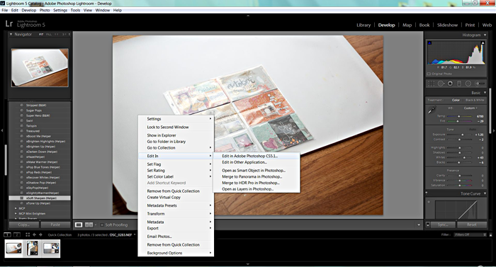 tutorial for how to photograph your scrapbook layouts and save them for web
