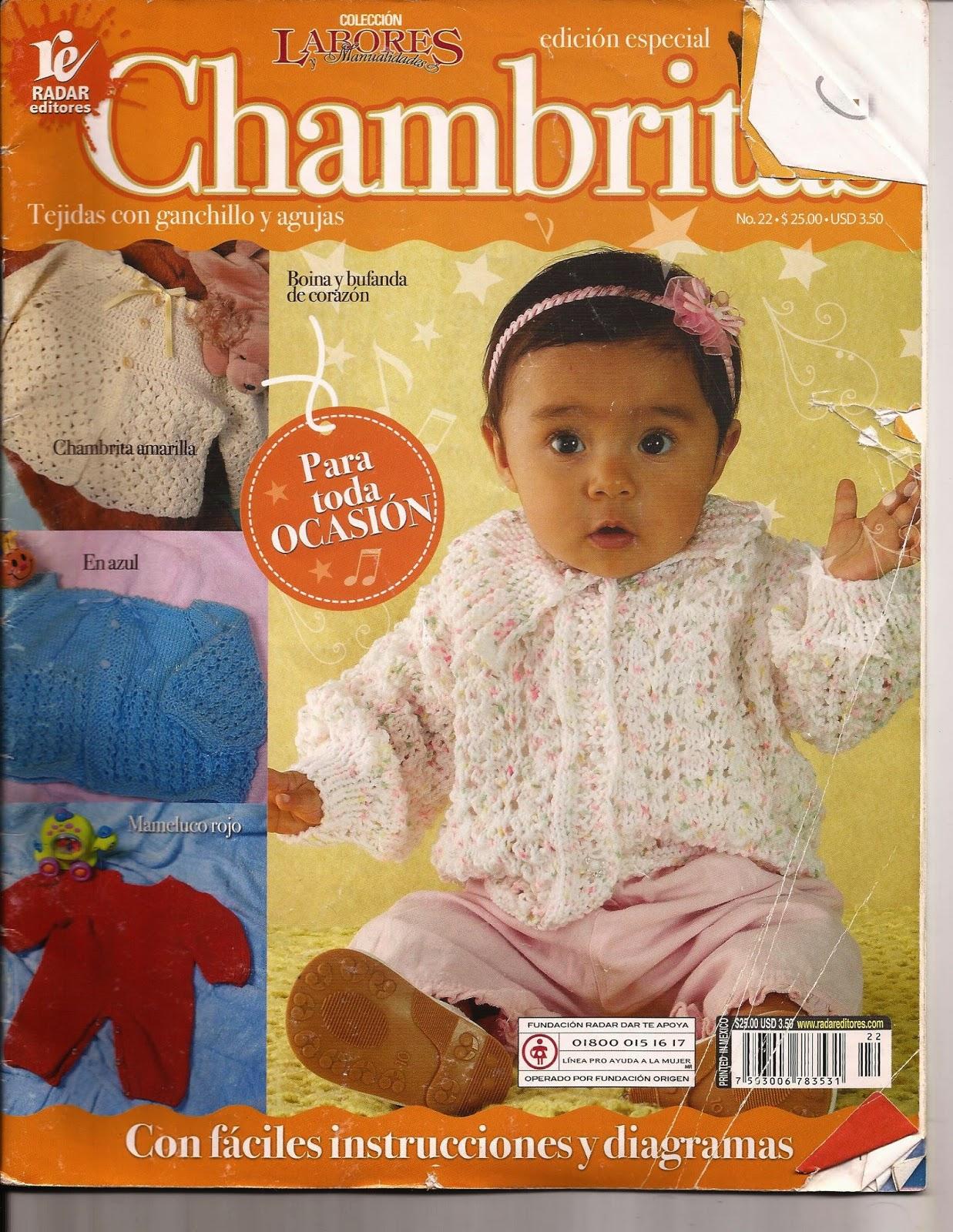 ajuares de bebes crochet y dos agujas - Revistas de crochet y ...