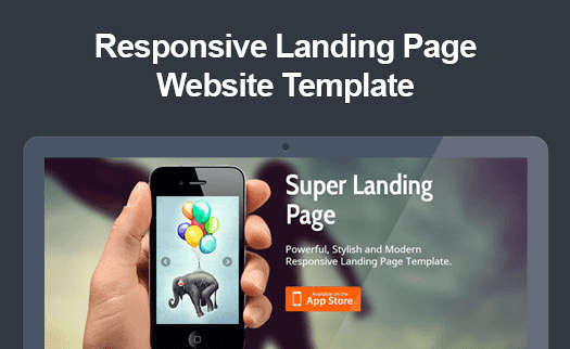 Responsive App Landing Page
