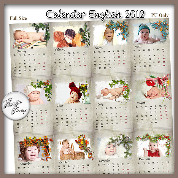 New Baby Calendar 2012 English Calendar 2012 Quotes Wallpapers