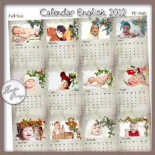 New Baby calendar 2012 English calendar 2012 2012 Baby Calendar & Calendars