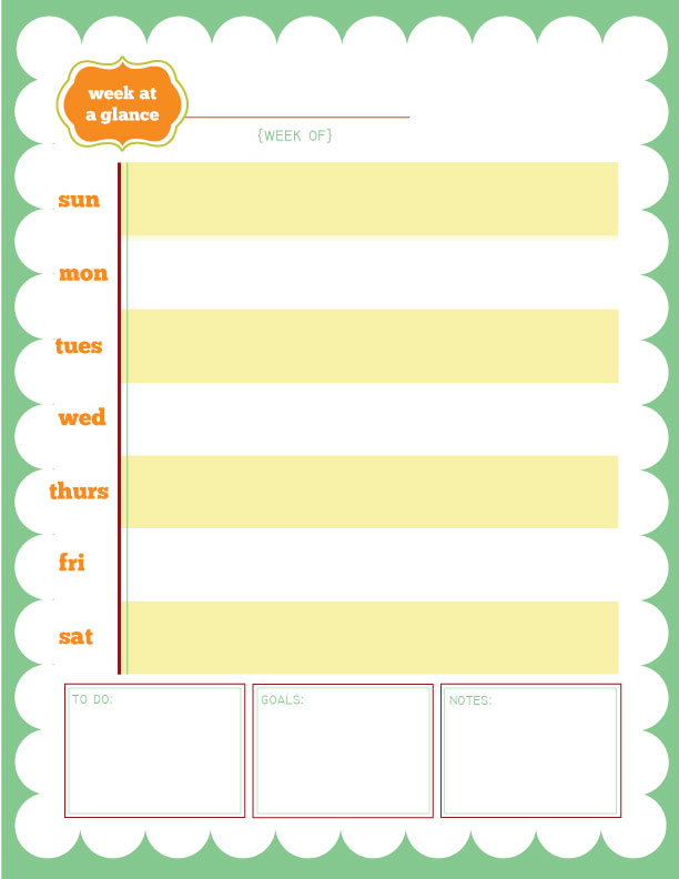 gray printable week at a glance calendar week at a glance calendar
