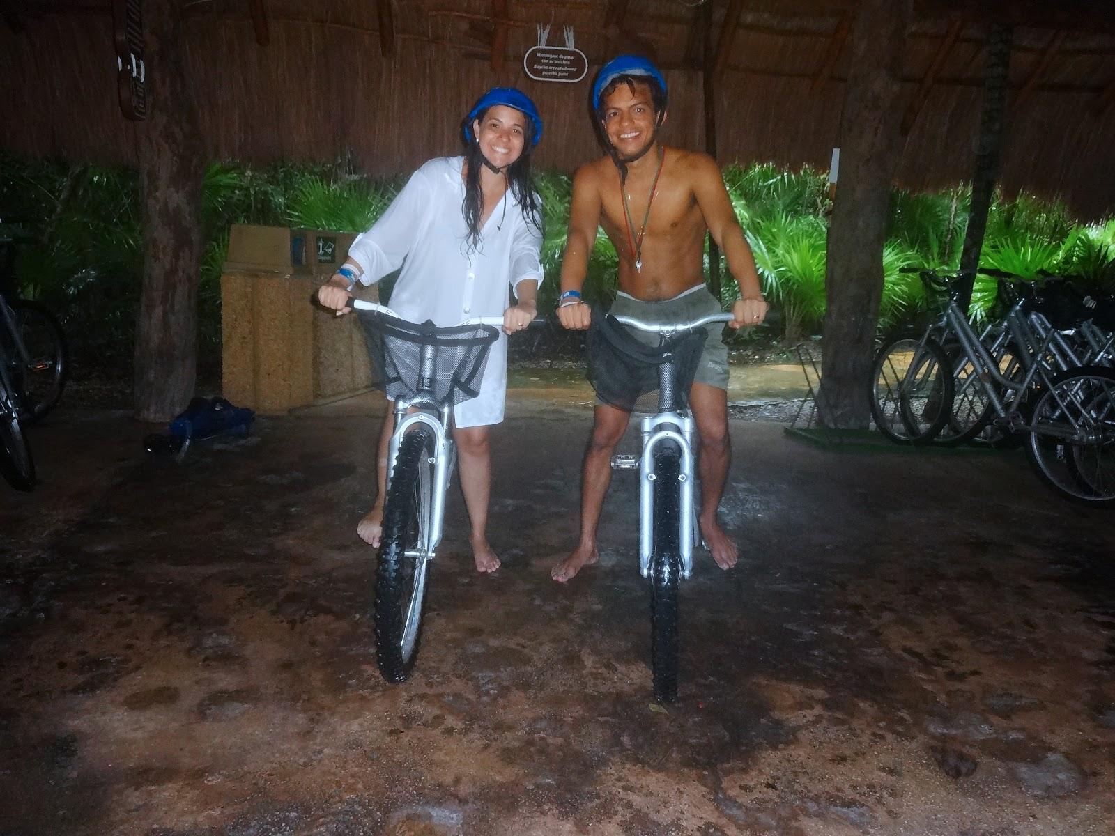 passeio de bicicleta - parque xel-ha - cancún - riviera maya
